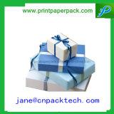 カスタム方法リボンのペーパーギフト用の箱の宝石類の包装ボックス
