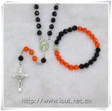 Il rosario all'ingrosso della collana dall'intera plastica dell'insieme borda il rosario (IO-crs010)