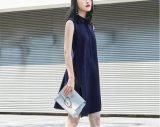 Robe de mode sans manches simple pour dames