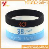 Fulgor da forma no Wristband escuro do silicone para o presente da promoção