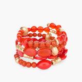 Böhmen-Sommer-Bonbon-Raupe Bracelet&Bangle für Frauen-multi Farben-Shell-Kies-dekoratives multi Schicht-Stulpe-Armband