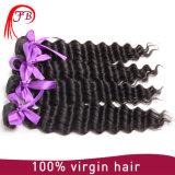 Extensão brasileira do cabelo humano da onda profunda de alta qualidade por atacado de Remy