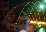 수영장 무지개 LED 물 분출 박판 모양에게 뛰어오르기