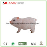 Покрашенная рукой статуя свиньи Polyresin для домашних орнаментов украшения и сада