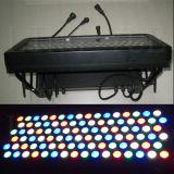 Color al aire libre de la ciudad de la arandela de la pared 96X3w que cambia la luz de la etapa del LED