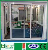 Porte coulissante de profil en aluminium économiseur d'énergie avec la glace Tempered