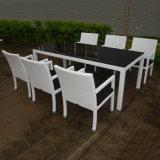 Im FreienPaito Gaststätte-Möbel-großes Speisetisch-Weidenrattan-Stuhl-Tisch-Set