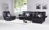 Counch nero singolo e sofà di cuoio d'angolo di combinazione (HX-FZ031)