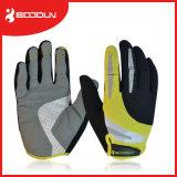 手袋の完全な指の耐震性の滑り止めのバイクのスポーツの手袋を循環させている人および女性