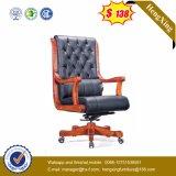 牛革主任の椅子の木の贅沢なオフィスの椅子Hx-Cr006