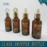 бутылка капельницы насоса давления янтарного эфирного масла колонки 30ml стеклянная