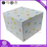 Documento impaccante del cartone su ordine certo del fornitore con il contenitore di regalo della Lanciare-Parte superiore del nastro