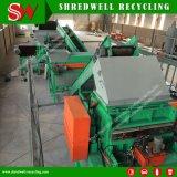 Shredwellの不用なタイヤのためのターンキースクラップのタイヤのリサイクルプラントはリサイクルする