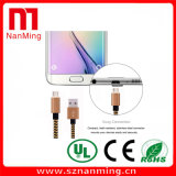 Câble micro de chargeur d'adaptateur de synchro du tissu tressé USB