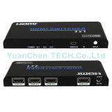 Switcher поддержки 3D 1080P 2.0V HDMI 3X1 HDMI DC 5V/1A для видеоего