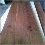 Ahumado y cepillado negro engrasado roble Engineered Wood Flooring
