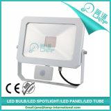 projector do diodo emissor de luz 50W com o sensor de movimento de PIR