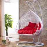 Новый напольный стул яичка качания, мебель ротанга PE, двойник Seater корзины ротанга (D151C)