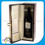 Het naar maat gemaakte Houten Verpakkende Vakje van de Fles van de Wijn van het Pu- Document Enige
