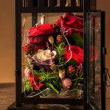 100% 발렌타인 생일 선물을%s 자연적인 실제적인 로즈 꽃 선물 상자