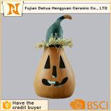 Supporto di candela di ceramica della zucca per la decorazione di Halloween