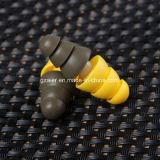 Disturbo che annulla le spine di orecchio insonorizzate dei Earplugs di uso dell'esercito del silicone con il pacchetto