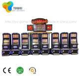 Nuevo hermoso arco arqueado doble pantalla de la máquina del juego Gabinete