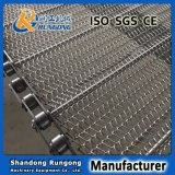 Cinto transportador de chapa de aço inoxidável / cinto de tecelagem / malha de anel de arame