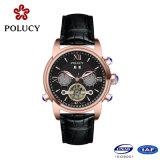 Relógios automáticos do Mens do ouro de Rosa da alta qualidade do OEM