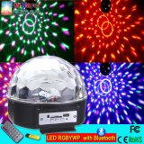 Indicatore luminoso magico della sfera di fabbricazione LED dell'indicatore luminoso di MP3 della discoteca magica di cristallo del giocatore con Bluetooth