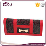 Бумажник повелительницы PU вычуры красного цвета с высоким качеством, тавром бумажника