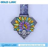 O metal Crafts lembrança Running da raça da medalha do medalhão feito sob encomenda da maratona