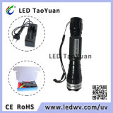 Lanterna elétrica 365nm UV do diodo emissor de luz, luz 3W da tocha 395nm