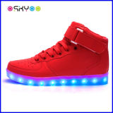 Zapatos que contellean luminosos de Hip-Hop LED