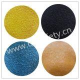 10 gants Dkl326 de travail enduits par paume bleue de latex tricotés par chaîne de caractères jaune de mesure