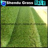 Grama do Synthetic da grama 25mm da paisagem para a decoração e o verde
