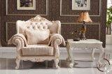 居間の固体カシの木のチェスターフィールドのソファー