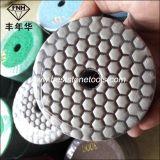Almofada de polonês seca flexível colorida do diamante para a pedra