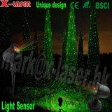 休日の一流の赤い緑レーザーの星夜ライト