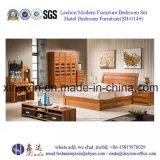 اندونيسيا خشبي أثاث غرفة نوم سرير الكبار مع خزانة (SH-011 #)