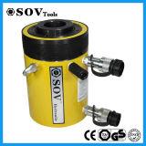 Cilindro hidráulico oco ativo do atuador do dobro Rrh-1006