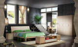 Оптовая дешевая китайская деревянная установленная мебель конструкции двойной кровати (UL-LF015)