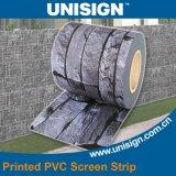 Unisign de alta calidad de PVC tira de la pantalla impresa Sichtschutzstreifen