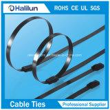 Tipo rivestito della serratura della sfera della fascetta ferma-cavo del PVC ss di concentrazione ad alta resistenza