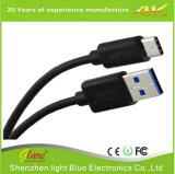 データケーブルをタイプする黒いPVC USB 2.0のタイプC