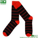 Rote China-Fabrik-lange Mannschafts-Zoll-Socken