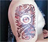 L'occhio meccanico ha progettato l'autoadesivo provvisorio impermeabile del tatuaggio