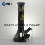 黒いインライン濾過器のガラス煙る管(BY007)