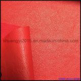 Gravar o couro do plutônio para o revestimento protetor de superfície das sapatas a mesma cor