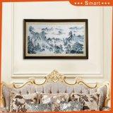 Pintura al óleo hermosa del paisaje del estilo chino